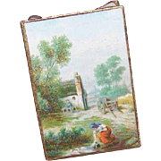 FRENCH VICTORIAN Mini Candy/Bon Bon Box - Woman Drawing Water from a Pond