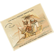 ANTIQUE VICTORIAN Trade Card for Reeves, Parvin & Co - Importers and Grocers!