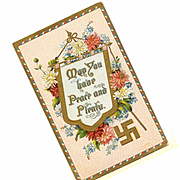 Vintage Postcard - May You Have Peace and Plenty!