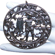 Interesting SILVER Medallion/Pendant from France - Medieval Herald!