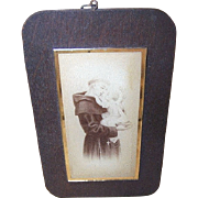 C.1930 Religious Glass Image of Saint Anthony & The Infant Jesus!