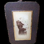 C.1930 Religious Glass Image of Saint Anthony & The Infant Jesus!