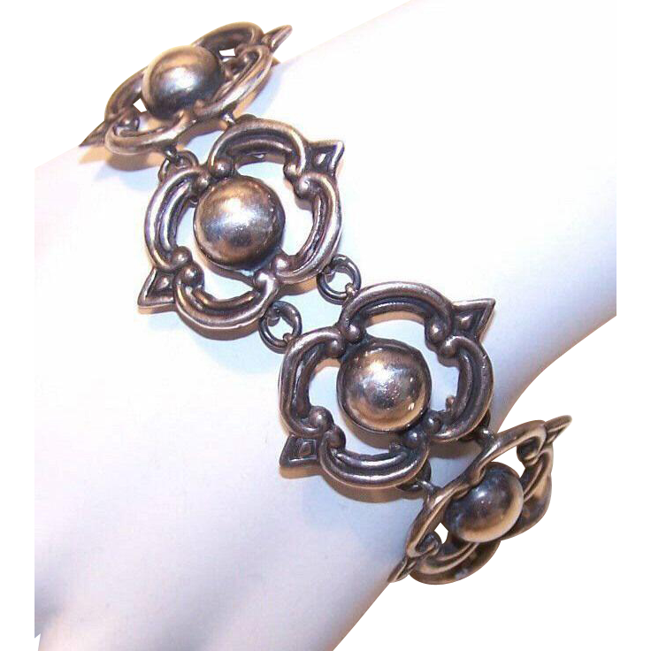 50s Maricela, Taxco, Mexico STERLING SILVER Link Bracelet!