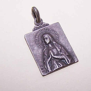 Vintage FRENCH 800/900 Silver Religious Medal From Notre Dame - Virgin Mary!