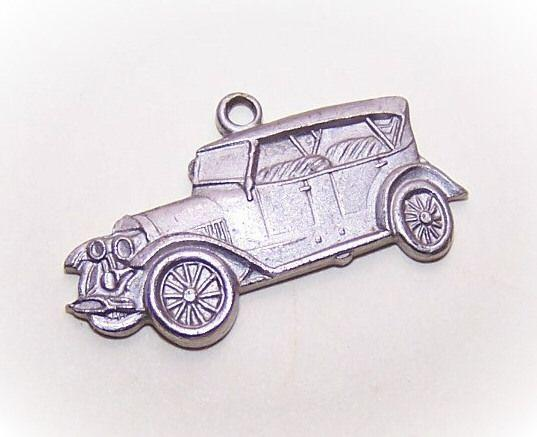 Vintage STERLING SILVER Charm from AAA - 1912 Chalmers Automobile!
