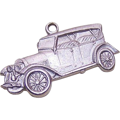 Vintage STERLING SILVER Charm from AAA - 1912 Chalmers Automobile