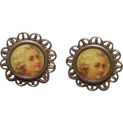 Historical VICTORIAN Gilt Metal & Celluloid Louis XIV Buttons!