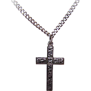 Vintage Religious STERLING SILVER Cross with Chain!