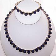 Vintage Mexican 950 SILVER & Sodalite Demi-Parure - Necklace & Bracelet!