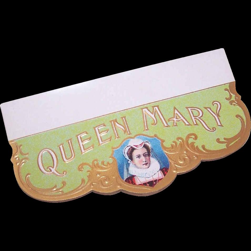 Vintage QUEEN MARY Cigar Label!