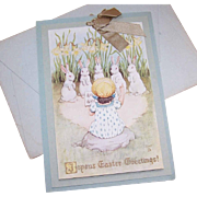 RARE C.1900 Raphael Tuck & Sons Easter Greeting Card with Original Envelope!