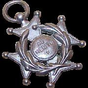 """Vintage FRENCH SILVERPLATE Medal - Maltese Cross """"For Merit""""!"""