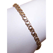Vintage STERLING SILVER Vermeil Charm Bracelet - Heart Top!