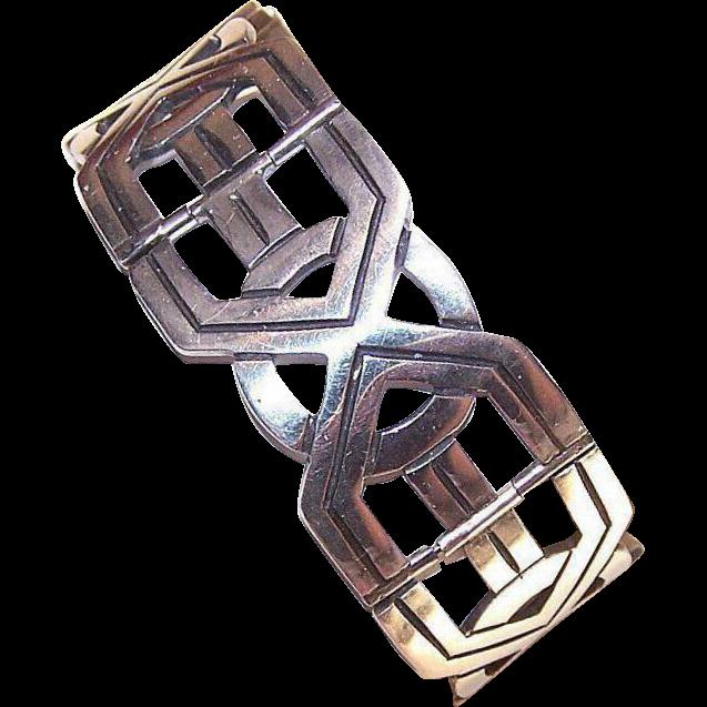 Vintage MEXICAN Sterling Silver Francisco Rivera Link Bracelet!