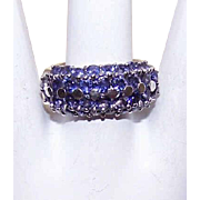 Really Cute STERLING SILVER & Rhinestone Fashion Ring!