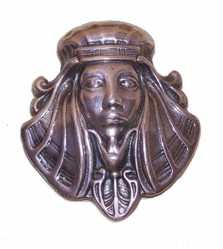 STERLING SILVER Pin/Brooch - Head of an Egyptian Pharaoh/King Tut!