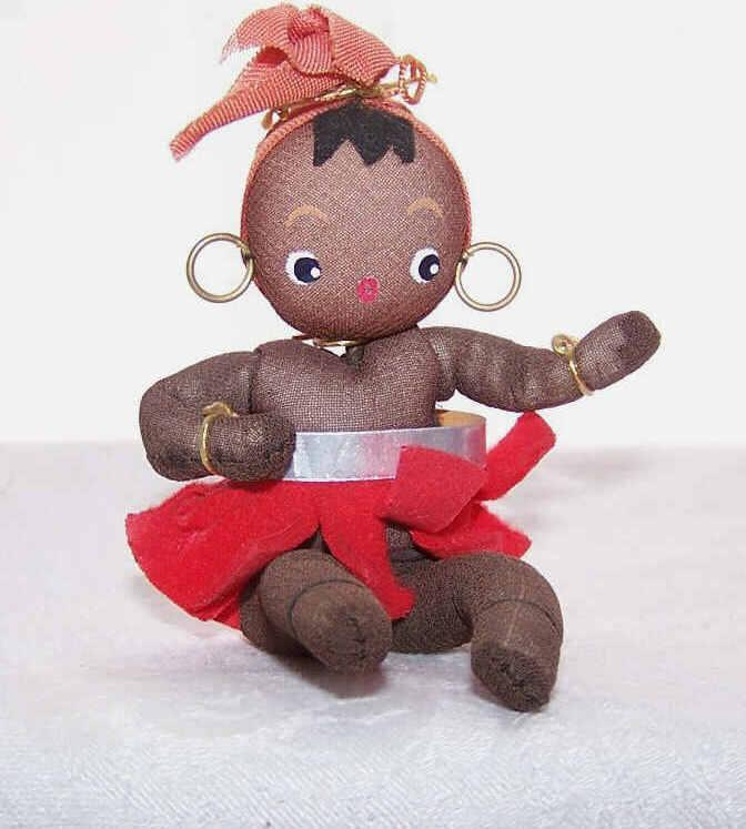 C.1960 MADE IN JAPAN Black African Dancer Doll - Josephine Baker?