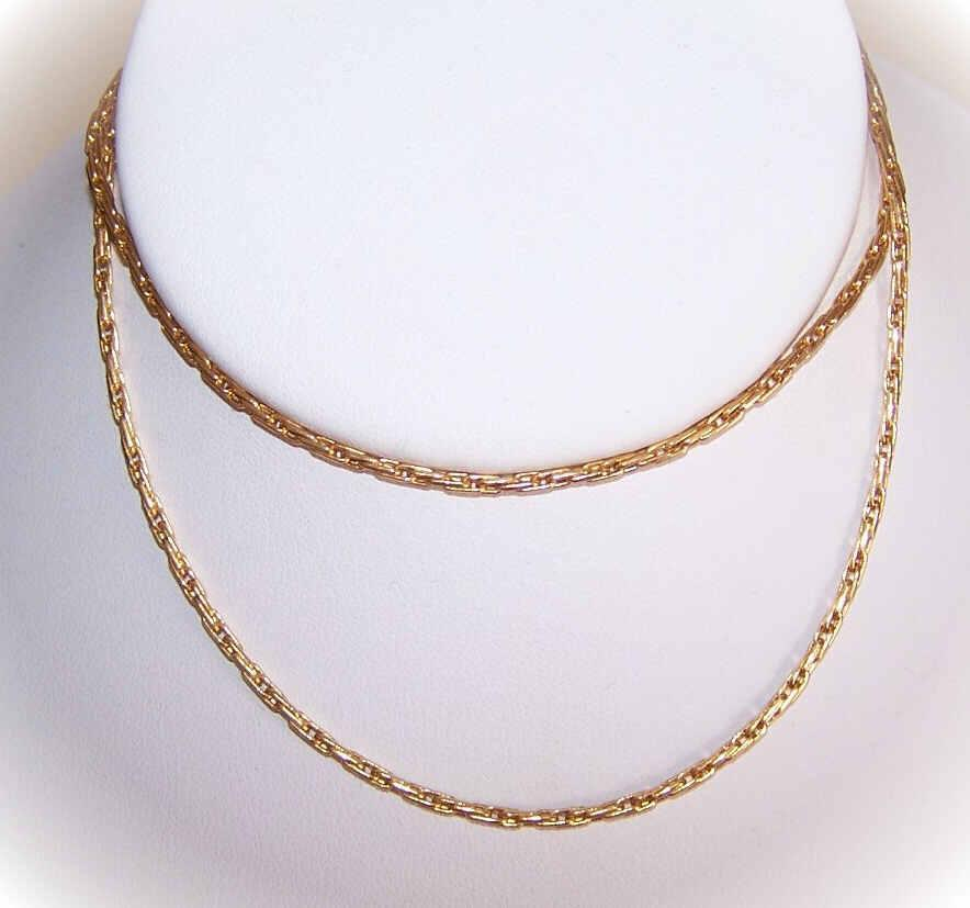 "Vintage ITALIAN 18K Gold 22"" Chain Necklace - 5.8 Grams!"
