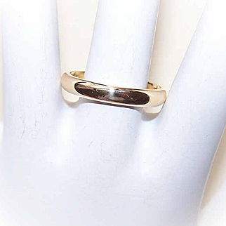 Vintage 18K Gold Wedding 3.5mm Band by Tiffany & Co - Size 8-3/4!