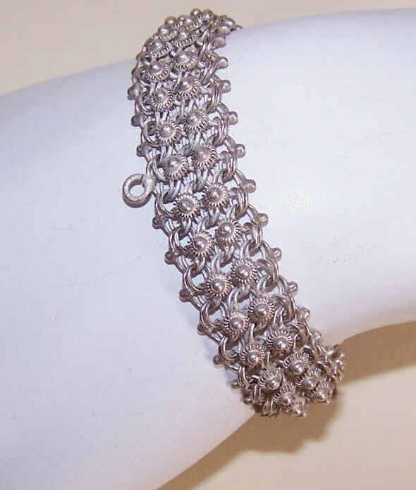 Vintage MEXICAN Sterling Silver Filigree Bracelet!