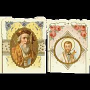 Pr of Religious Crusade Cards - Saint Augustine & Saint Francis Xavier!