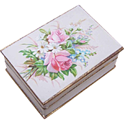 FRENCH VICTORIAN Paper Hinged Box - Bouquet of Florals!