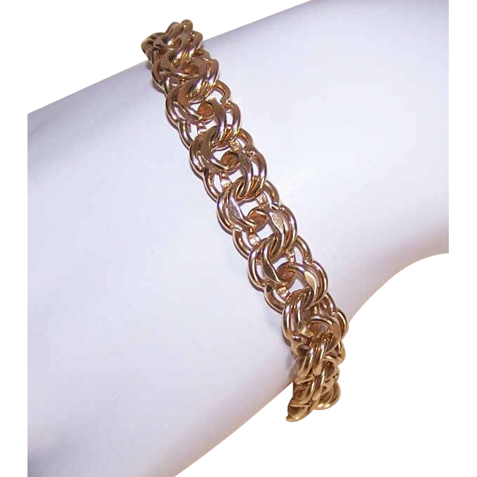 Vintage GOLD FILLED Charm Bracelet by Ballou!