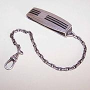 C.1930 HICKOK Sterling Silver & Enamel Beltogram - Wallet/Key/Watch Chain!