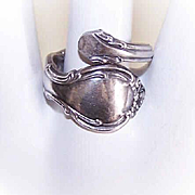 C.1961 STERLING SILVER Spoon Ring by Alvin - Pirouette!