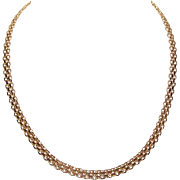 Vintage STERLING SILVER Vermeil Chain Necklace by Milor, Italy!
