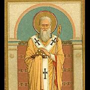 VICTORIAN Religious Card - St. Nicholas aka Santa Claus aka Kris Kringle!