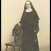 Vintage B&W Photo of a Nun!