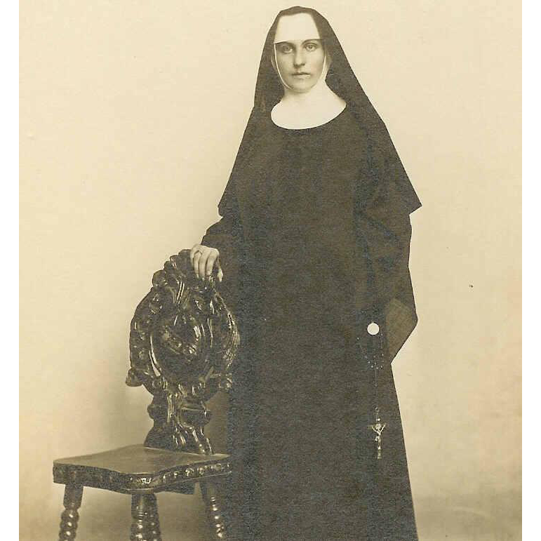 Vintage B&W Photo of a Nun!