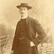 VICTORIAN B&W Photograph of a Vicar/Pastor by Queen Victoria's Photographer!