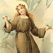 St Rosalina C.1900 RELIGIOUS Prayer Card!