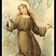 St Rosalina C.1900 RELIGIOUS Prayer Card!