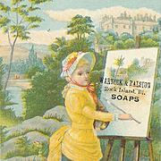 VICTORIAN Trade Card for Arnock & Ralston Soaps!