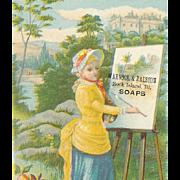 VICTORIAN Trade Card for Arnock & Ralston Soaps!