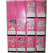 Viennese C.1920 BOXED SET of 10 Handpainted Celluloid Place Cards!