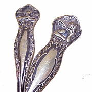 2 Vintage SILVERPLATE Utensils - Raphael's Cherub/Cupid at Top!