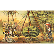 VICTORIAN Trade Card for Rice's Seeds!