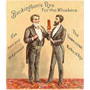 VICTORIAN Trade Card for Buckingham's Dye for the Whistkers!