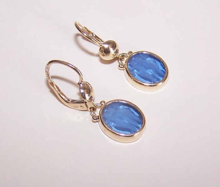 Vintage ESTATE 14K Gold & Glass Intaglio Drop Earrings - Cupid & Psyche!