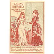 VICTORIAN Trade Card for Carter's Iron Pills - For the Blood, Nerves & Complexion!