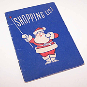 UNUSED C.1950 Christmas SHOPPING LIST  - Advertising for First National Bank, St. Louis!
