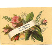 Prang VICTORIAN Trade Card for Faith Whitcomb's Balsam - Coughs and Colds!