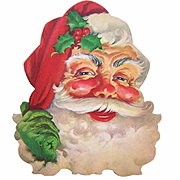Vintage DENNISONS Cardboard Santa Claus Decoration!