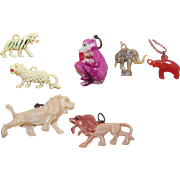 Collection of CRACKER JACK Charms - Lions, Tigers, Elephants & Monkey!