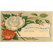 VICTORIAN Trade Card for New Home Sewing Machine Co!