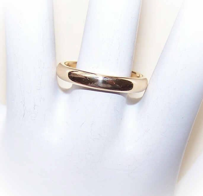 TIFFANY & Co 18K Gold Wedding 3.5mm Band - Size 8-3/4!